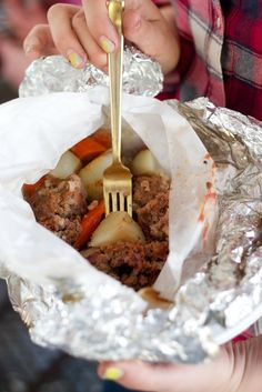 Tin Foil Dinners: Cowboy Meatballs Meal   The Coterie Blog   Coterie [koh-tuh-ree] A group of people who associate closely.