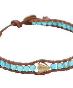 "Chan Luu 6"" Stud Bracelet Turquoise/Natural Brown #accessories  #jewelry  #bracelets  https://www.heeyy.com/suggests/chan-luu-6-stud-bracelet-turquoisenatural-brown-turquoise-natural-brown/"