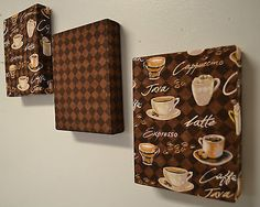 Coffee theme fabric wall hanging set of 3 ea cappachino espresso decor. could be a DIY project! Coffee Theme Kitchen, Coffee Room, Coffee Cafe, My Coffee, Kitchen Decor Themes, Home Decor, Home And Deco, Küchen Design, Decorating Tips