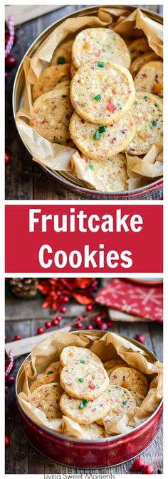 These irresistible Fruitcake Cookies will blow your mind with incredible flavor & soft texture. The perfect Christmas cookie recipe for exchanges & parties via @Livingsmoments