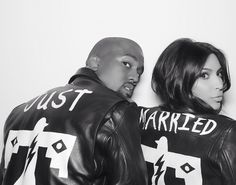 love the idea of matching jackets. not a fan of the couple though//