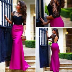 dress silvia navarro vestidos mermaid prom dress mermaid fushia fushia dress…