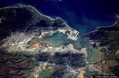宇宙から見たサンフランシスコ・ベイエリア