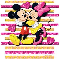FAll In Love Mickey And Minnie Mouse Hugging