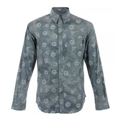 Paul Smith Jeans Hexagon Ash Shirt JLCJ-484N-438 from Stuarts London