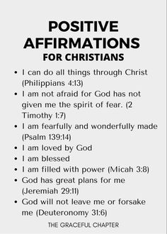 Positive Affirmations For Kids, Affirmations For Anxiety, Morning Affirmations, Love Affirmations, Affirmations For Success, Prosperity Affirmations, Positive Mindset, Inspirational Bible Quotes, Bible Verses Quotes