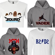 Star Wars + Rock N Roll! What more could you ask for? Shop all these designs and more in the Star wars section at MoneyLineTees.com! Star Wars Hoodie, Star Wars Tshirt, Cool Tees, Cool T Shirts, Starwars, Star Wars Christmas, Star Wars Love, Star Wars Merchandise, Movie Tees
