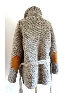 Grey Wool Heritage Roll Neck Sweater//