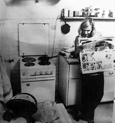 Ingeborg Bachmann in the kitchen of her Rome apartment, c. 1968 Rome Apartment, Poetry, Pumpkin, Lifestyle, Kitchen, Women, Literatura, Pumpkins, Cooking