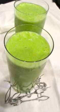 It's a green smoothie kind of morning.