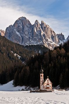 Church of San Giovanni in Ranui, Val di Funes, Trentino-Alto Adige, Italy