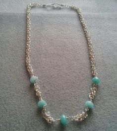 Byzantine chain with Amazonite beads Byzantine, Beaded Necklace, Jewellery, Chain, Beads, Fashion, O Beads, Moda, Jewelery