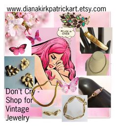 """""""Don't Cry - Buy Some Vintage Jewelry"""" by diana-32 on Polyvore featuring Napier, Sarah Coventry, Trifari and vintage"""