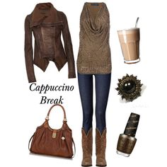 """""""Cappuccino Break"""" by carolyn-co on Polyvore"""