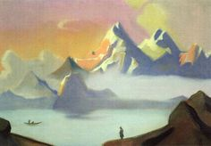 nicholas roerich paintings | roerich nicholas 1874 1947 1940s tibet tretyakov gallery moscow russia ...