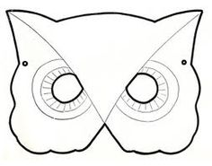 owl mask template - Google Search | Stuff to Try | Pinterest | Mask ...