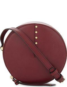 SANDRO Bonnie leather cross-body bag