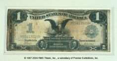 This is a silver certificate, which was a common form of currency during the Victorian Era.  This one was recovered from Titanic