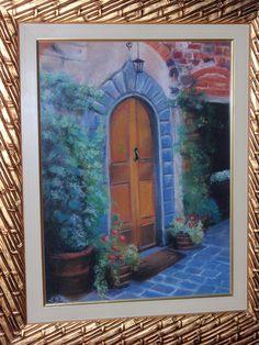 LUISA D'ACRI --  Trabalho em Pastel seco - 2012 - Porta de casa italiana.
