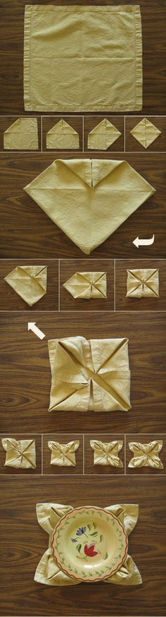 Waterlily Napkin fold