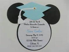 Mickey Mouse Graduation Invitation Party---Cute preschool or kindergarten grad party idea