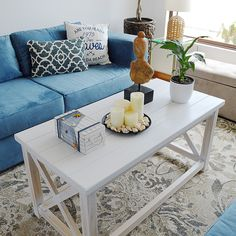 Coastal living room decor