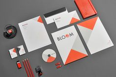 Calico colors in a company's stationery!--25 Fantastic Examples of Branding