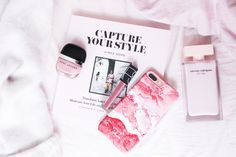 pink, marble, book, marc jacobs, iPhone 7 plus, narciso rodriguez, capture your style, blogger, flatlay,