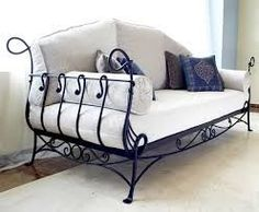We are in love with this wrought iron day bed!  Visit stonecountyironworks.com and let us bring your dream to life!
