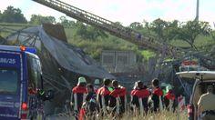 Schraudenbach -Brücke eingestürzt ein Bauarbeiter verstorben, sechs schw...