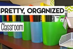 Pretty, Organized Classroom Pinterest Board
