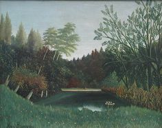 Henri Rousseau: View from the edge of a forest