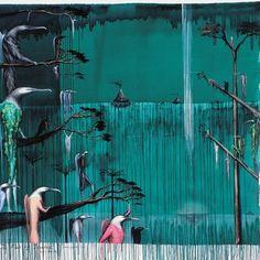Bill Hammond The Fall of Icarus 1995. Acrylic on canvas. Christchurch Art Gallery Te Puna o Waiwhetu, purchased 1996