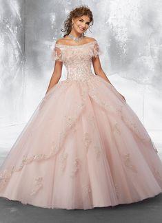 43a3b8c5a46 Beaded Off Shoulder Quinceanera Dress by Mori Lee Vizcaya 89181. Quince  DressesGold DressPink DressSweet 16 ...