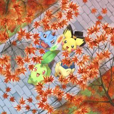 Autumn Stroll. These Pokémon are always soo cute