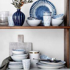 "1,874 Likes, 10 Comments - Broste Copenhagen (@brostecph) on Instagram: ""We love blue. Bring colours inside with unique and colorfull tableware. Broste Copenhagen SKAGEN…"""
