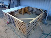 The Field Lab... chicken coop made of pallets