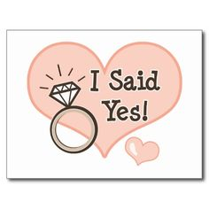 I Said Yes Wedding Announcement Postcard Engagement Photo Props, Engagement Quotes, Wedding Photo Booth Props, Engagement Ring, Wedding Themes, Wedding Signs, Our Wedding, Wedding Ideas, Rustic Ring Bearers