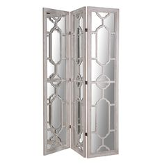 Wellington 3 Piece Mirrored Dressing Screen