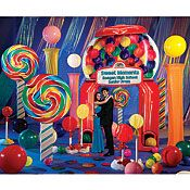 Lollipop and Candy Dreams Vertical Invitations