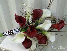 calla lily pictures | Bride in Bloom: Bridal bouquet, real touch red & white calla lilies
