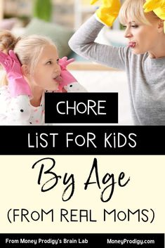 Age Appropriate Chores for Kids (How do You Get Kids to Do their Chores?) - Money Prodigy - Age appropriate chores for kids -