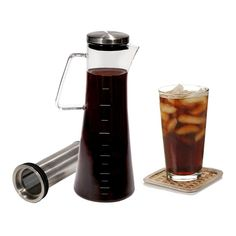 Handi Home Cold Brew Coffee Maker Brewed Ice Coffee And Tea Pitcher 1.3 Quart |