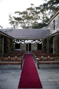This very simple yet elegant wedding was held at Gunners' Barracks in Sydney. Wedding Venues Sydney, My Perfect Wedding, Marry Me, Flower Decorations, Got Married, Elegant Wedding, Floral Arrangements, Wedding Flowers, Australia