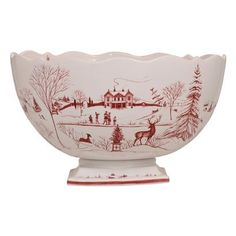 $398.00 Center Piece Bowl Winter Frolic, Christmas Celebration