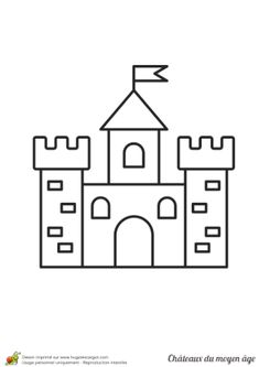 Home Decorating Style 2020 for Chateau Coloriage, you can see Chateau Coloriage and more pictures for Home Interior Designing 2020 at Coloriage Kids. Drawing Lessons For Kids, Art Drawings For Kids, Easy Drawings, Art For Kids, Comic Cover, Chateau Moyen Age, Chateau Disney, Toddler Drawing, Castle Crafts