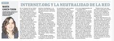 Internet.org y la neutralidad de la red, por Marta García Terán