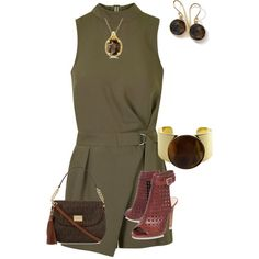 A fashion look from March 2015 featuring Topshop rompers, Vince Camuto shoes and Michael Kors shoulder bags. Browse and shop related looks.