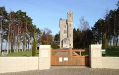 The Ulster Tower,36th (Ulster Division) WWI memorial, Thiepval, France. At the entrance to the small museum & memorial is a plaque detailing 9 of the division's Victoria Cross winners, on the Somme.