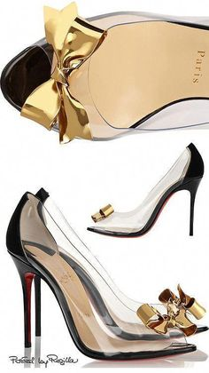 1939f5662602 Love the gold detail on these Louboutin high heels!  ChristianLouboutin  Stilettos